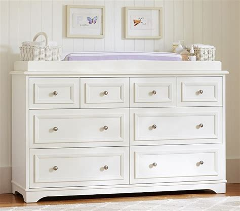 changing table and dresser fillmore wide dresser topper set pottery barn