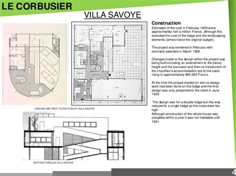 Villa Savoye Floor Plans by Modern Post Modern Architects Amp Their Works