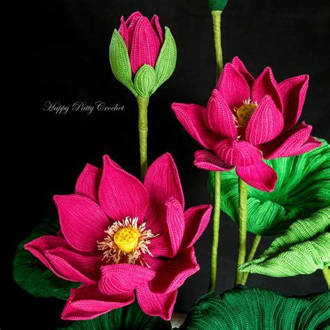 crochet lotus flower pattern crochet lotus flower pattern by happy patty crochet