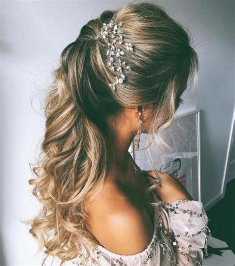 Simple Bridesmaid Hairstyles For Hair by Half Up Half Wedding Hairstyles 50 Stylish Ideas