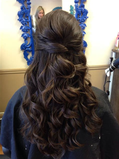 prom hairstyles for brunette hair wedding hair half up curly brunette twist wedding