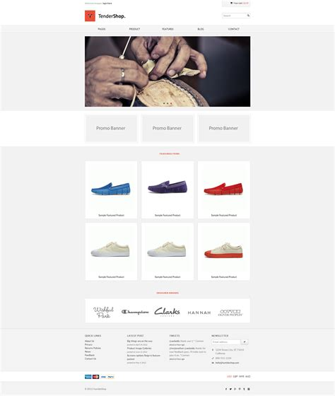 tendershop minimal responsive ecommerce template on behance