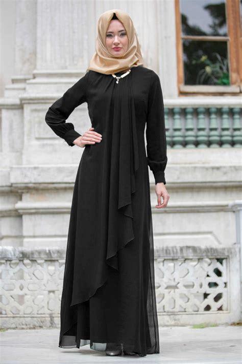 neva style black hijab evening dress  neva stylecom