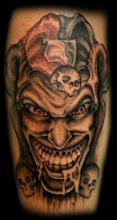 tattoo evil joker evil jester by george perham tattoo inspiration worlds