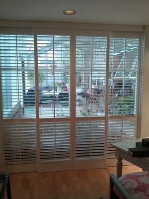2 1 2 Quot Louvered Patio Door Shutters In A Bypass Track Bypass Shutters For Patio Doors