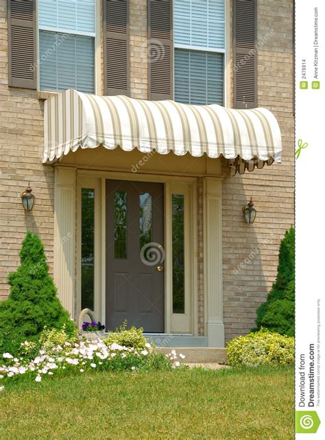 Front Door Canvas Awnings Front Door Awning Stock Photo Image Of Awning Frontdoor