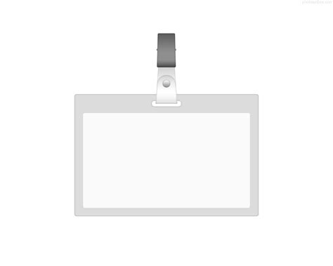 blank badge template blank id card photosinbox