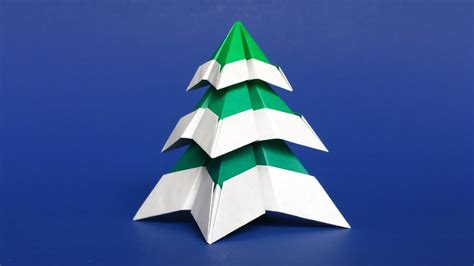 Snow Origami - origami tree with snow easy diy paper