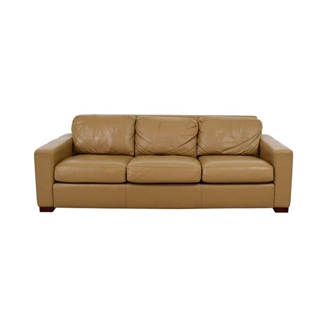 3 cushion leather sofa linen sofa with single seat cushion russcarnahan