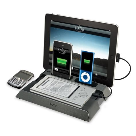 tablet charging station ihome ipad ipod iphone kindle blackberry nook ereader