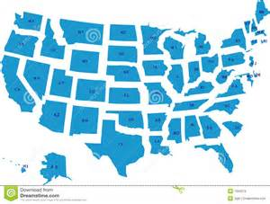 usa map with all the states in easily editable separate
