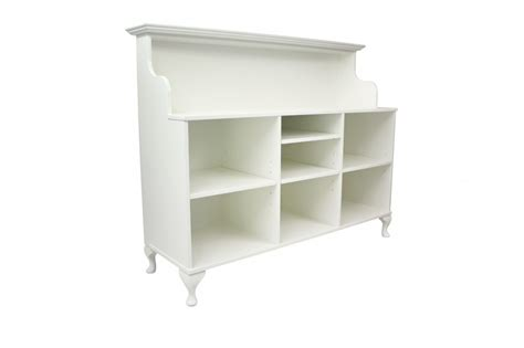 White Salon Reception Desk Small Reception Desk With Mouse Velvet Panel Front