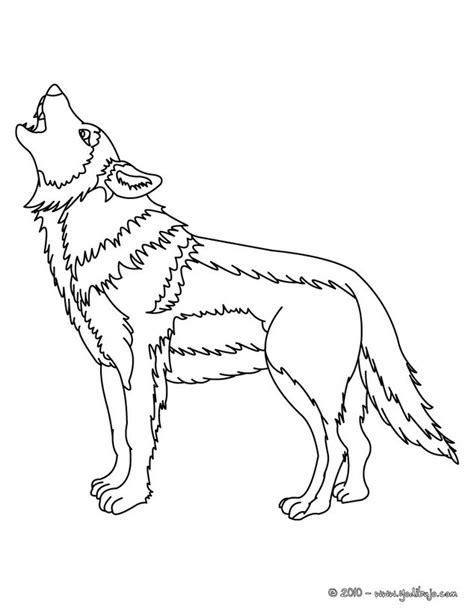imagenes para colorear lobo dibujos para colorear lobo gris es hellokids com