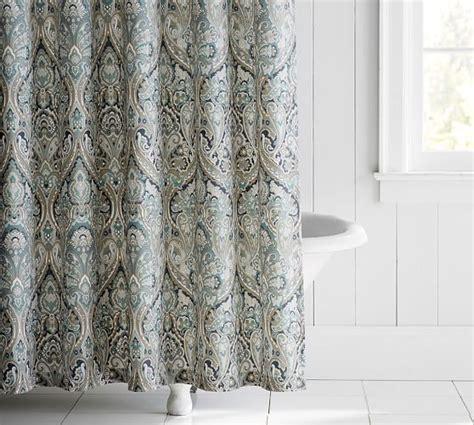 potterybarn shower curtain mackenna shower curtain pottery barn