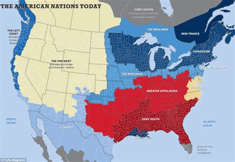 american cultures map which of the 11 american nations do you live in the map