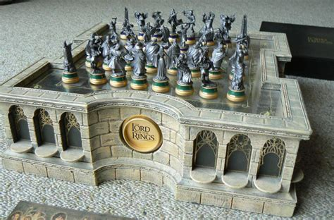 Chess Table Amazon Noble Collection Newline Entertainment Lord Of The Rings