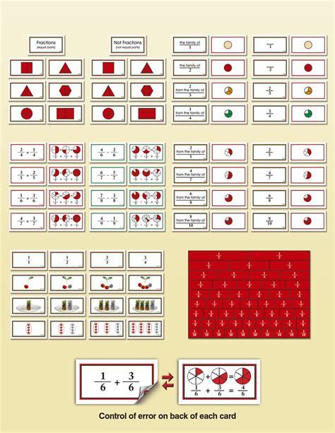 montessori fraction fractions curriculum montessori research and development