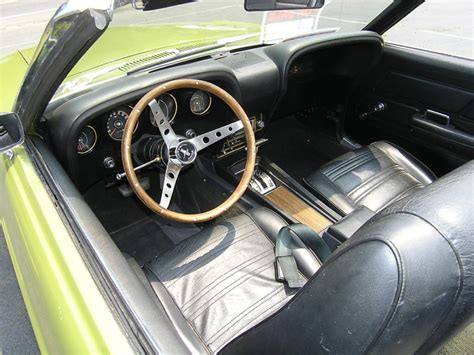 medium lime green 1970 ford mustang convertible