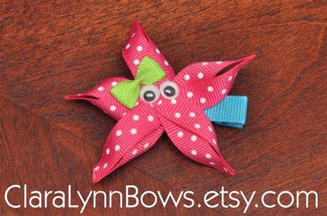 hairbows with ribbon sculpture pinterest starfish ribbon sculpture hair bow new to clara lynn bows
