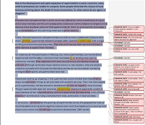 Revision Essay Exles by Ielts Academic Essay Sample Revisions