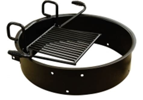 pit ring with grill park grills rings commercial site furnishings