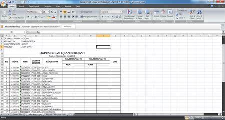 format daftar hadir ujian sekolah contoh format rekap nilai ujian sekolah us usbn tahun