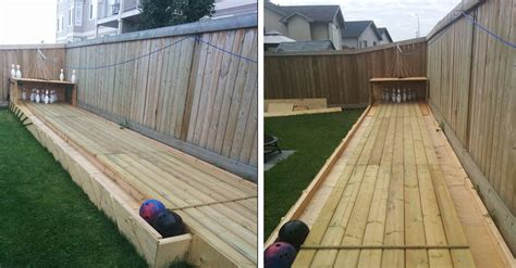 diy backyard bowling alley neighbors are jealous of this guy s backyard what he