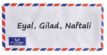 Offizieller Brief Beenden lieber eyal gil ad und naftali
