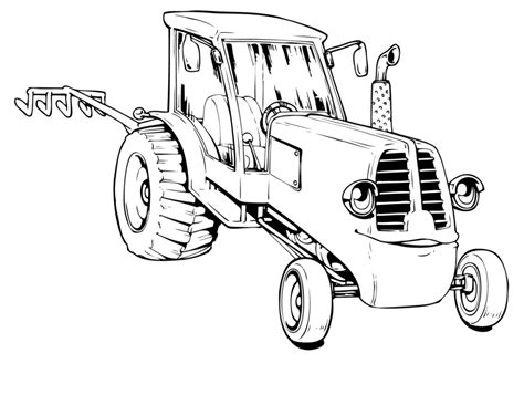 combine tractor coloring pages coloring pages