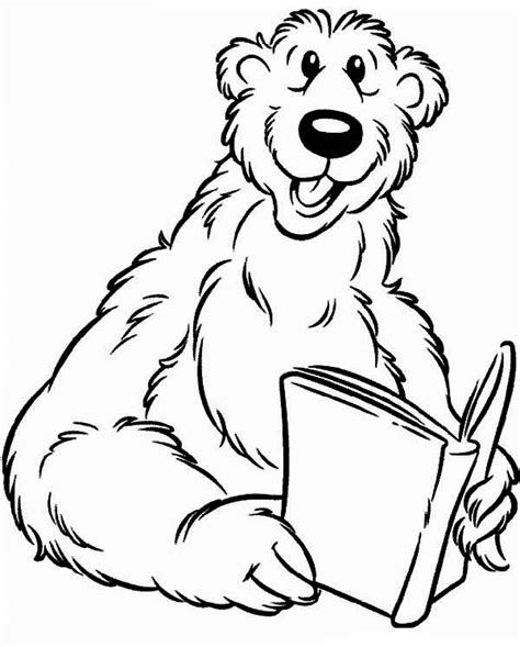 bear inthe big blue house read a book coloring pages netart