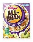 fruit n fibre calories all bran fruit n fibre kellogg s 100g gt calories 358