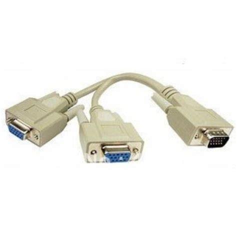 Spliter Vga Kabel 1 til 2 vga splitter y kabel til 2 monitorer tvcamshop