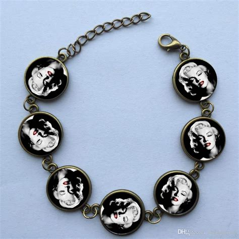 Handcrafted Jewelry Wholesale - 2018 wholesale glass cabochon bracelet marilyn