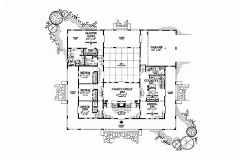 u shaped house plans with courtyard more intimacy u shaped house plans with courtyard more intimacy