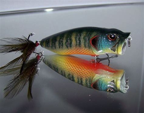 Handmade Topwater Lures - custom painted crank bait bass snax pop n maxx topwater