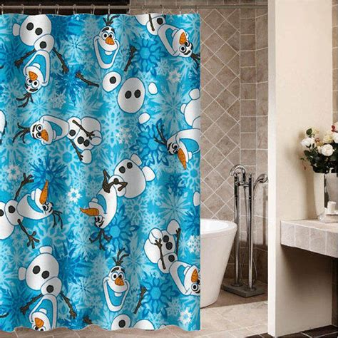 disney frozen shower curtain olaf disney frozen custom shower from desemberkah on etsy