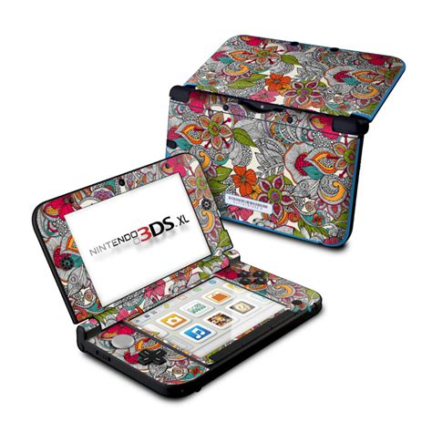 doodle xl doodles color nintendo 3ds xl original skin covers