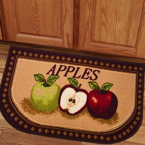 apple kitchen rug charming apples 18x30 kitchen slice rug overstock shopping big discounts on door mats