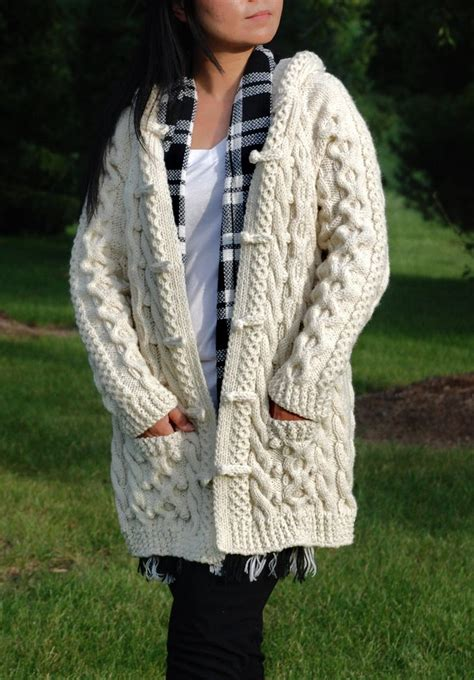 knit pattern long sweater coat the perfect chunky sweater hand knit women chunky cable