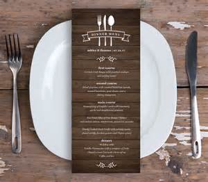 menu card template dinner menu card template printable wedding menu instant