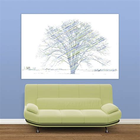 easy wall mural calypso tree blue and green easy up wall mural