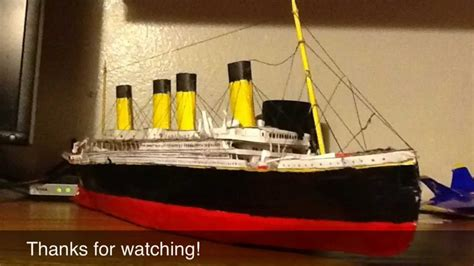 How To Make The Titanic Out Of Paper - titanic paper model