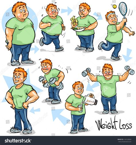 weight management nch before after weight loss program stock vector