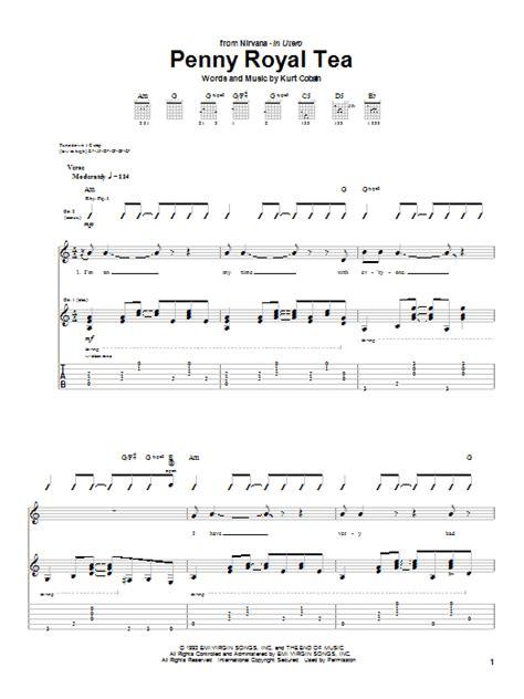 guitar tutorial nirvana penny royal tea by nirvana guitar tab guitar instructor
