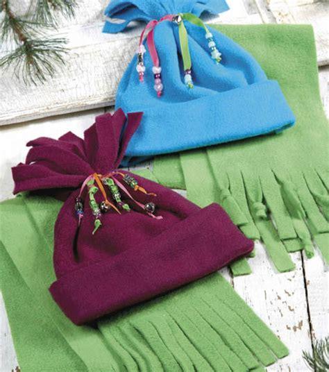 fabric crafts fleece child s fleece hat scarfchild s fleece hat scarf