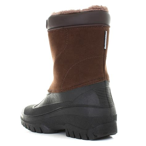Garden Boots Mens by Mens Brown Mucker Warm Winter Waterproof Yard Work Garden Wellies Boot Shu Size Ebay