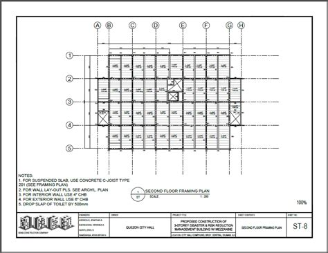 2nd floor framing plan structural grab
