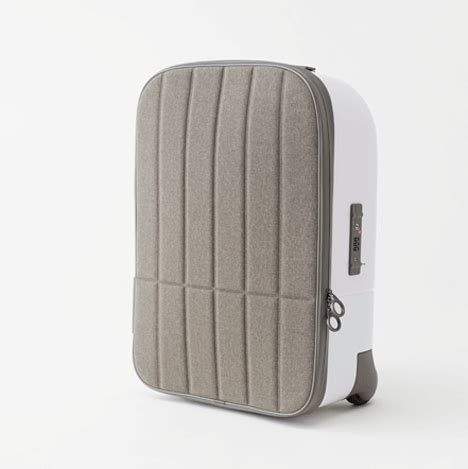 designer cabin luggage nendo s cabin baggage has a shell and a soft front