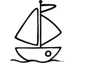 simple boat template easy boat coloring coloring pages