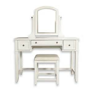 Mirrored Vanity Set Bed Bath And Beyond Buy Vista Vanity Set With Mirror In White From Bed Bath